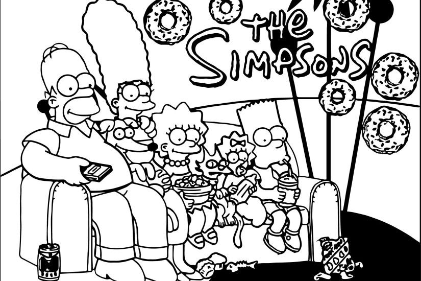 New Wallpapers The Simpsons Coloring Page