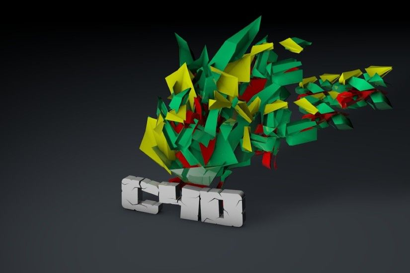 Download Cinema 4d, Letters, Colorful Wallpaper