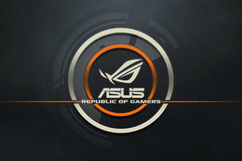 Preview wallpaper asus, logo, republic of gamers, computer 2560x1440