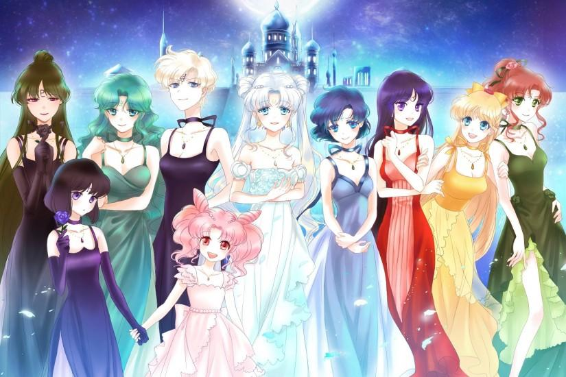 Bishoujo senshi sailor moon anime series girls group dress wallpaper |  2000x1500 | 618983 | WallpaperUP