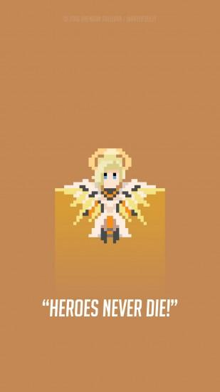 large overwatch mercy wallpaper 1080x1920 for iphone