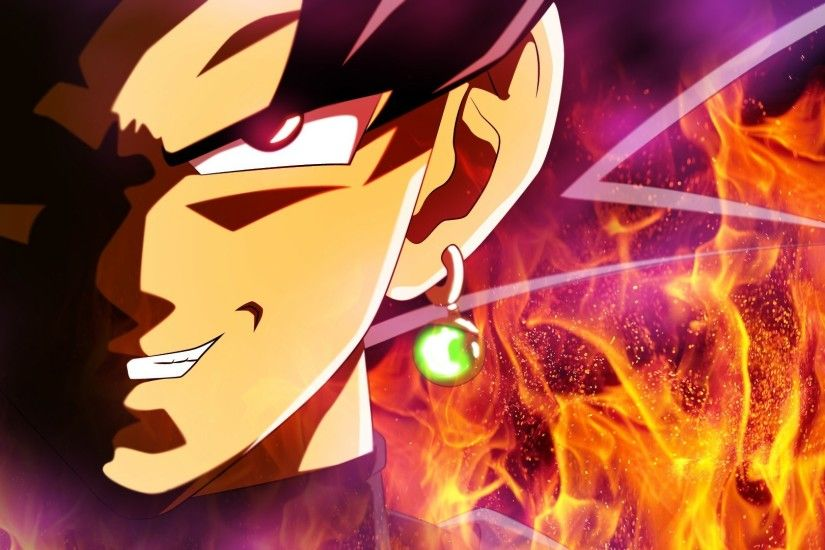 This wallpaper has tags of Goku Black, Dragon Ball Super, Anime,