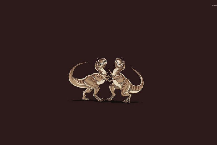 T-Rex duel wallpaper