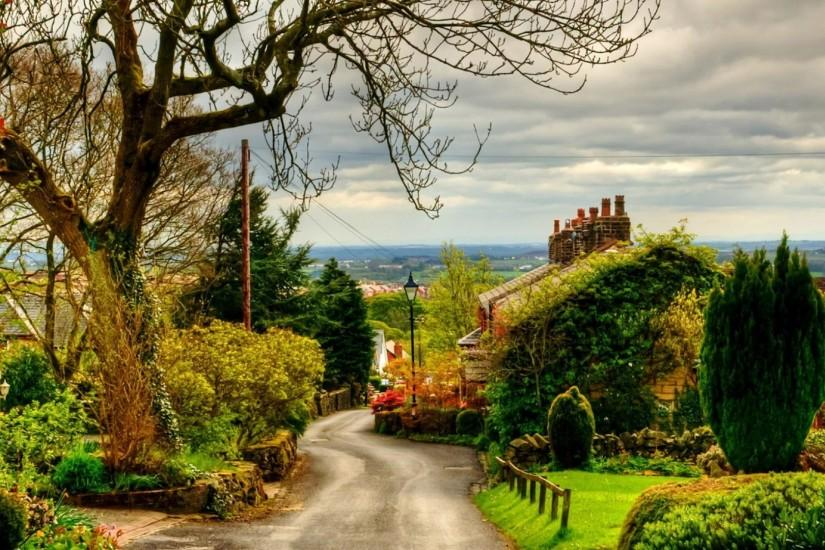Road in UK - HD Spring Wallpapers for Desktop
