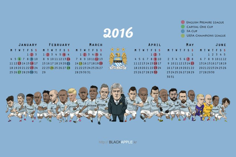 2015/16 Season MCFC Fan Art For Laptop Wallpaper