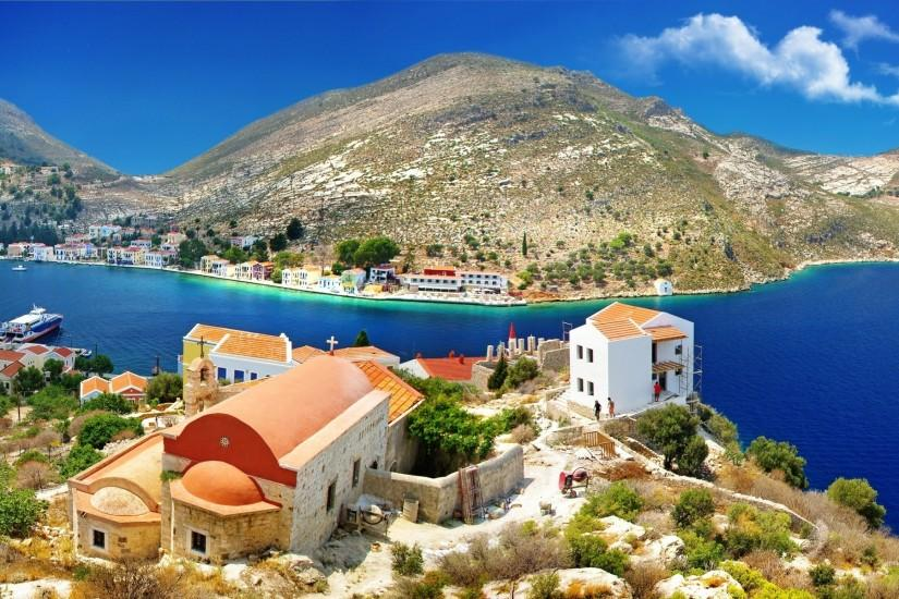 Beautiful Greece HD Widescreen Wallpaper