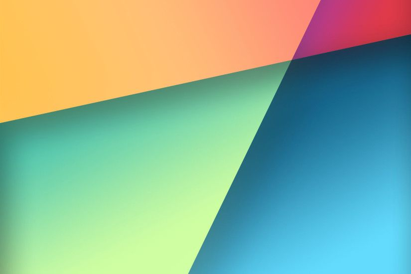 ... Nexus 7 Stock Wallpaper in Google Play Colors by R3CONN3R