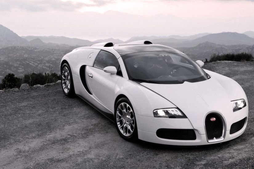 1920x1080 Wallpaper bugatti, veyron, cars, sport cars, white, hood, lights