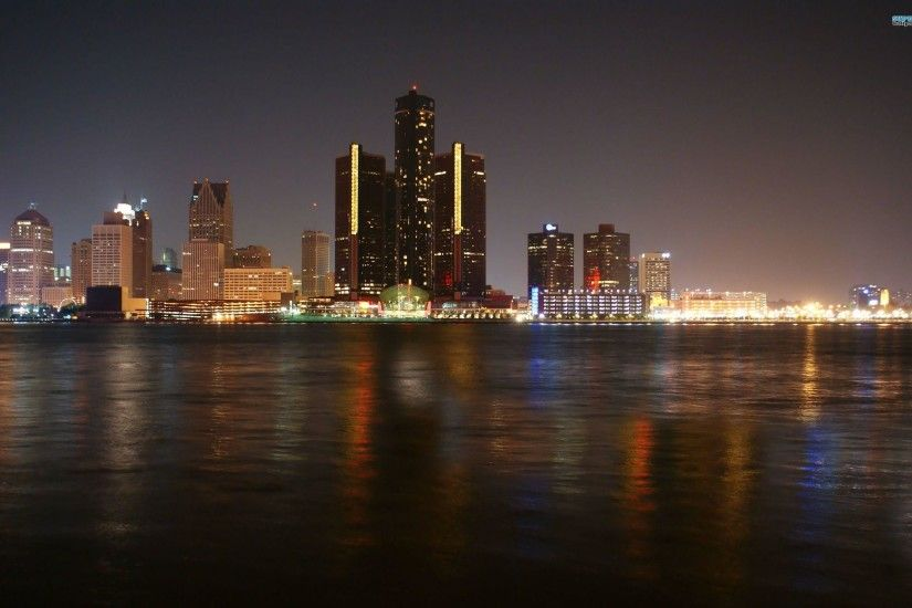 Detroit Skyline wallpaper - World wallpapers - #