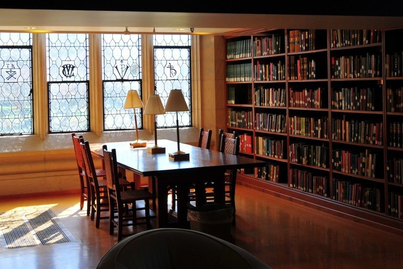 Home Library Study Room Wallpapers