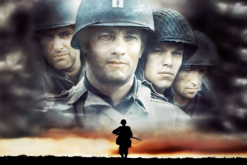 Movie - Saving Private Ryan Matt Damon Tom Hanks Wallpaper