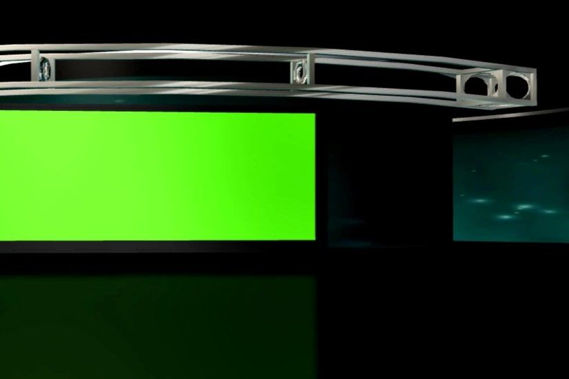 FREE HD Virtual Studio Set 2, Background loop with green .