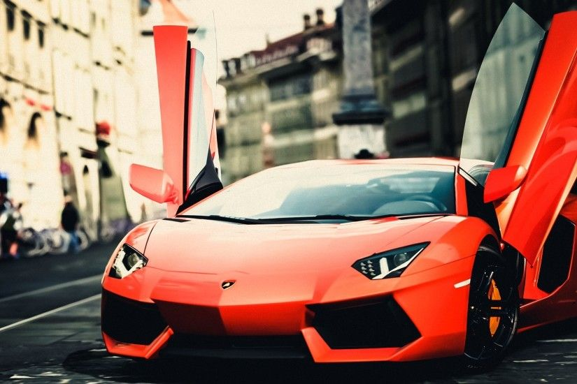 Lamborghini Orange City Hd Wallpaper | Wallpaper List