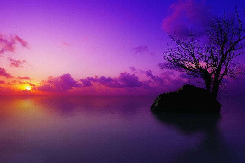 HD Purple Sunset 23188