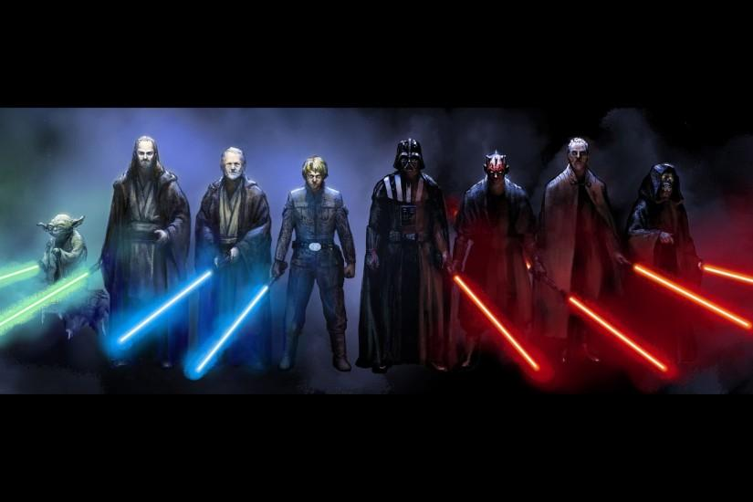 Jedi And Sith Star Wars Wallpaper ...