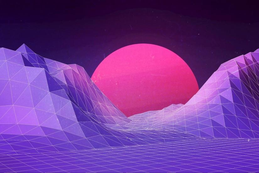 cool synthwave wallpaper 1920x1080 for windows 7