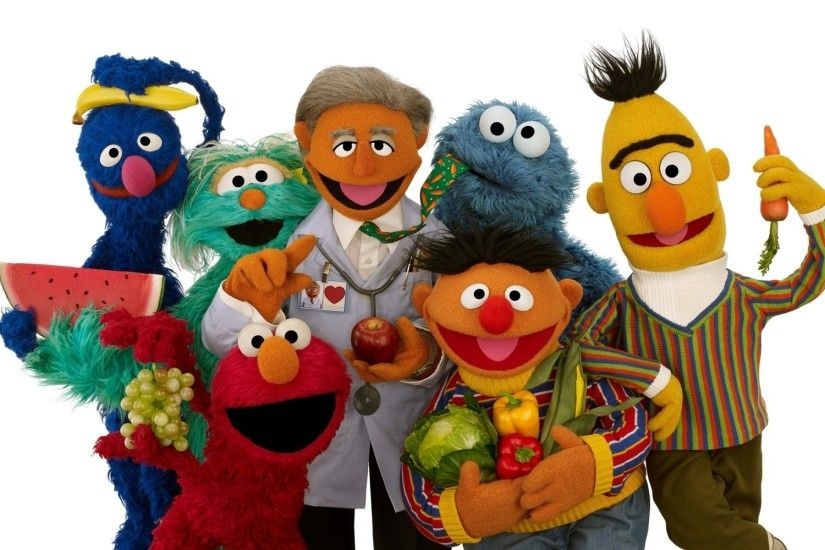 Sesame Street Three wallpapers and stock photos