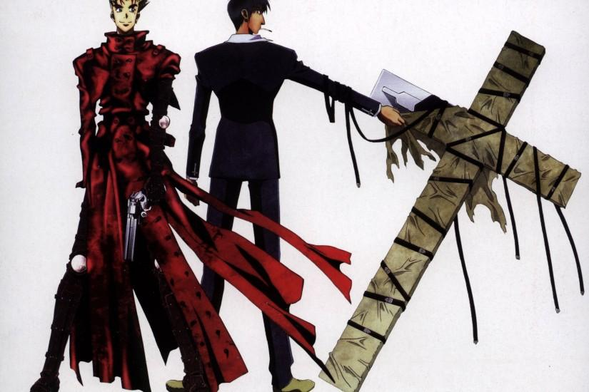 cross Trigun simple background wallpaper