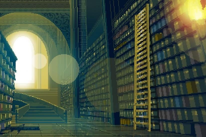 8 Bit Library Background.