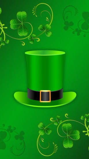 Holiday St. Patrick's Day Clover Hat Green. Wallpaper 616564