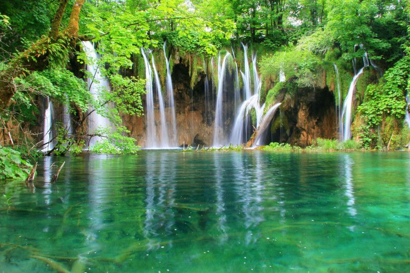 hd pics photos nature waterfall water bodies scenery desktop background  wallpaper