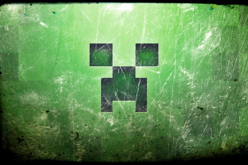 Minecraft Creeper Desktop Background
