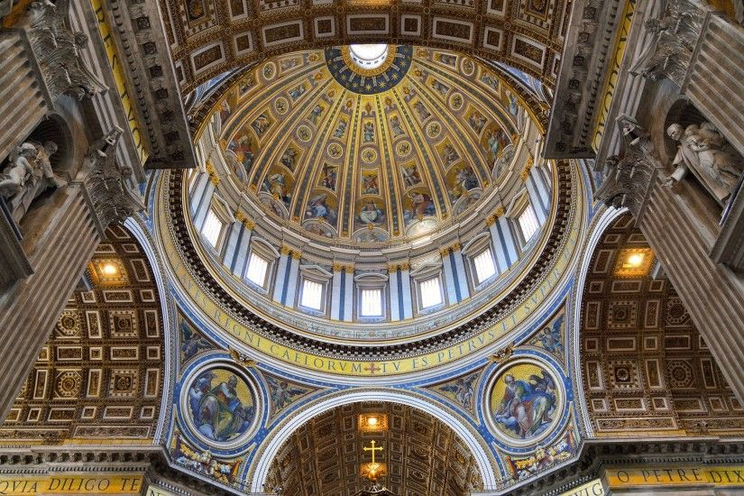 vatican city st. peter's basilica dome murals religion