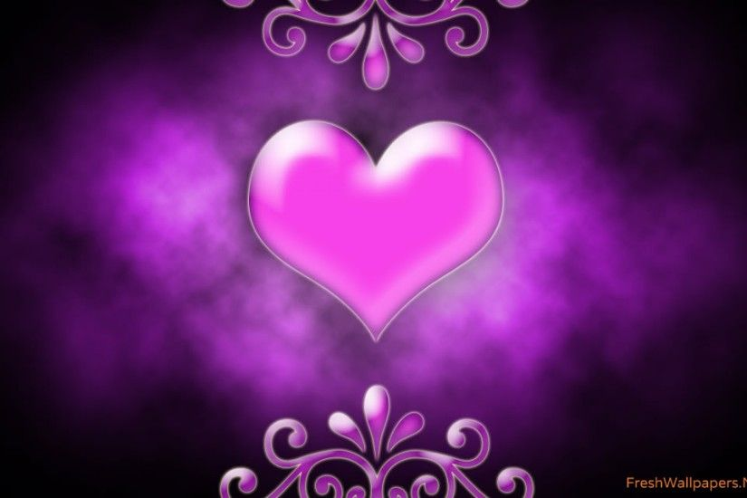 1920x1200 pink love heart - pink and purple Wallpaper
