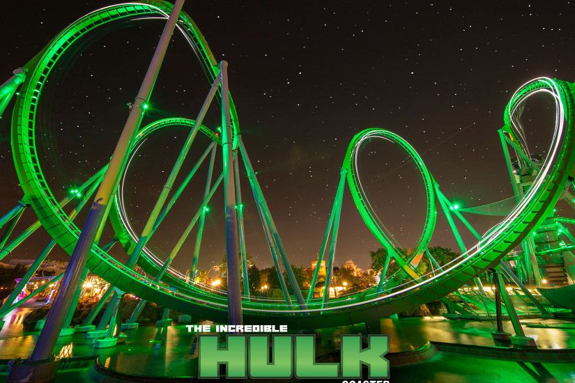 Enjoy the Rush of The Incredible Hulk Coaster With These Wallpapers