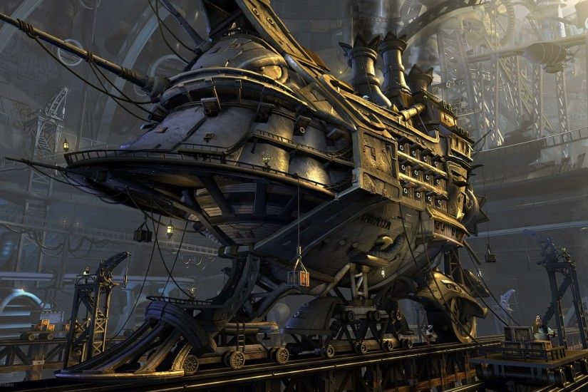 Sci Fi - Steampunk - Ship - Vehicle - Sci Fi Wallpaper