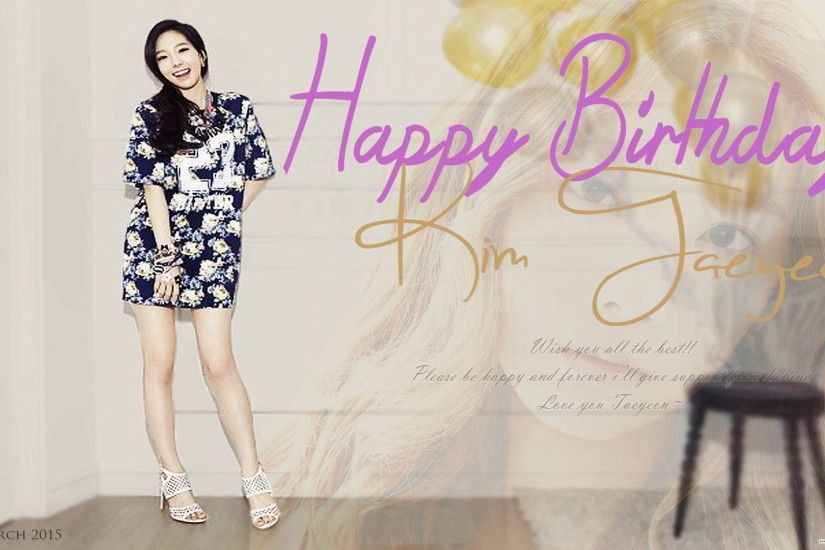 ... Happy Birthday Taeyeon (2015) by NoviLimz