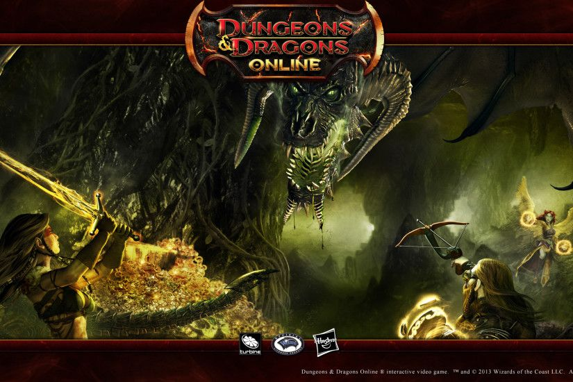 Dungeons & Dragons Online 16:9 Wallpaper - Black Dragon