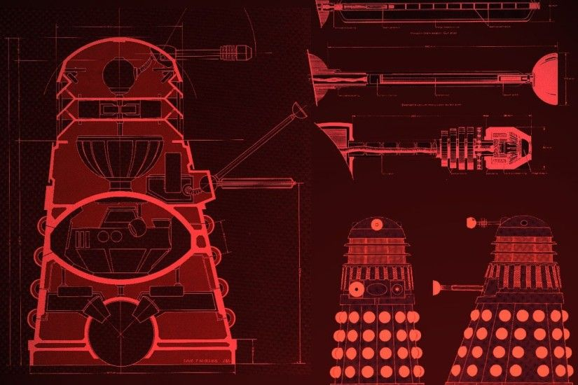 blueprints machines doctor who daleks Wallpaper HD