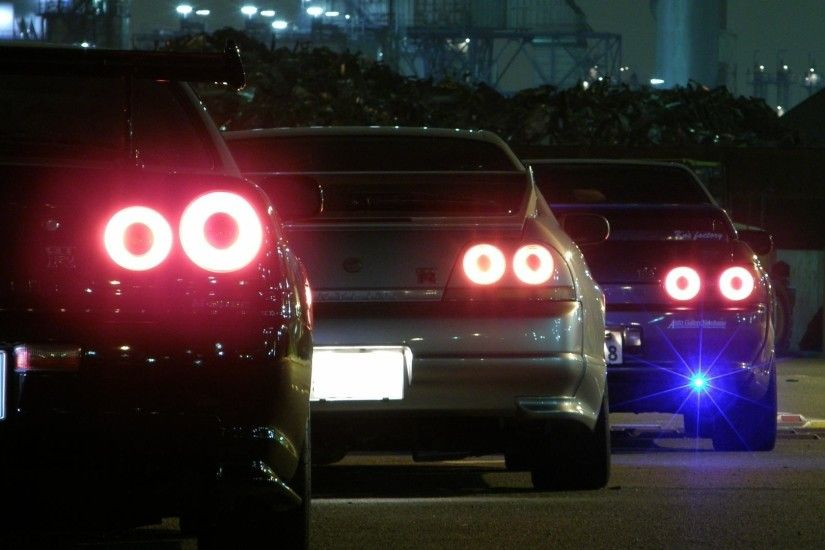 cars backview vehicles nissan skyline r32 gtr jdm nissan skyline r33 gtr  1920x1080 tuning wallpaper