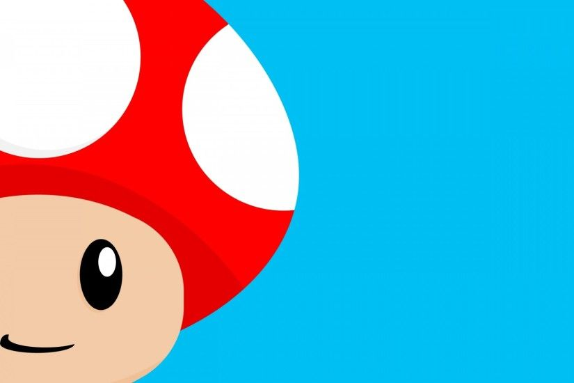 Preview wallpaper mario, mushroom, vector 1920x1080