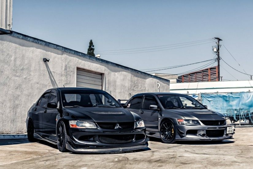 mitsubishi lancer evolution ix mitsubishi lancer evolution black grey double