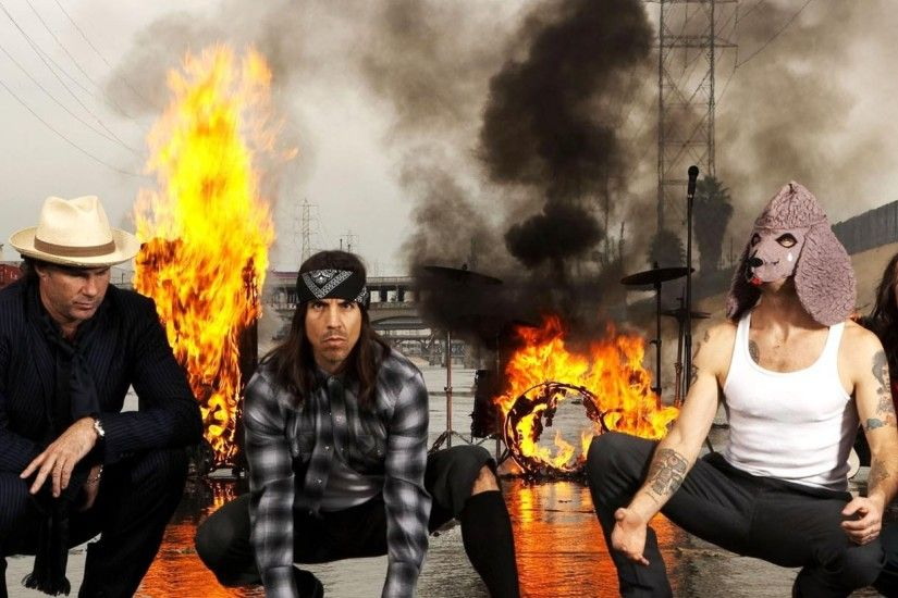 2560x1080 Wallpaper red hot chili peppers, fire, smoke, moisture, train