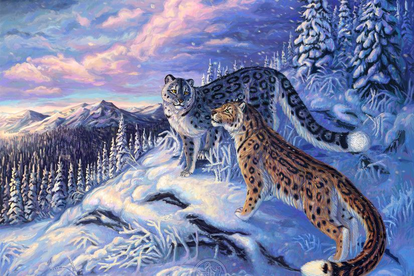Animal - Snow Leopard The Snow Leopards Wallpaper