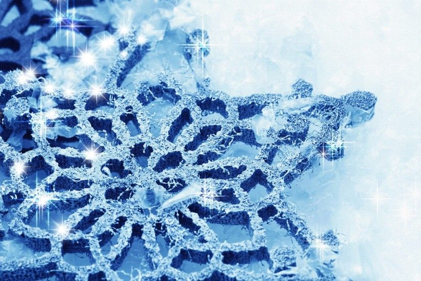 Winter - Cold Firefox Crystal Winter Stars Diamonds Shine Snow Snowflake  Blue Persona Free Desktop Wallpaper