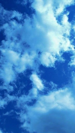 ... Blue clouds #iPhone 5s #Wallpaper | http://www.ilikewallpaper.