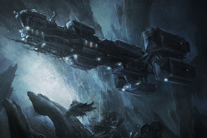 Prometheus spaceship HD Wallpaper 1920x1080