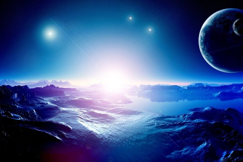 Blue Space Wallpaper 5759