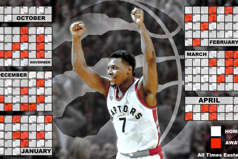 Toronto Raptors Calendar Wallpaper 2016-2017 ...