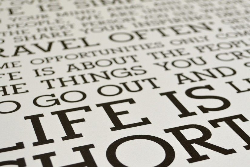 The Holstee Manifesto Original Letterpress Poster | This is your life. |  Holstee