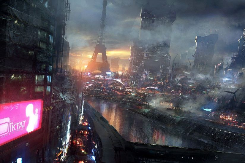 Future City Night Download wallpaper city, night