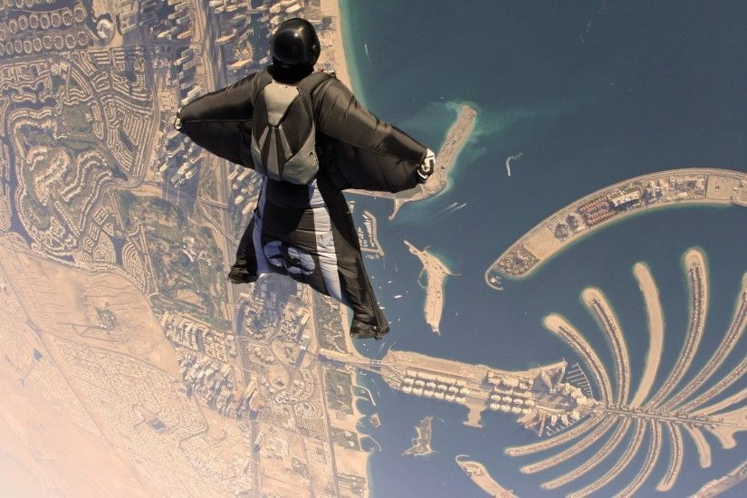 United Arab Emirates, Island, Skydiving, Wingsuits