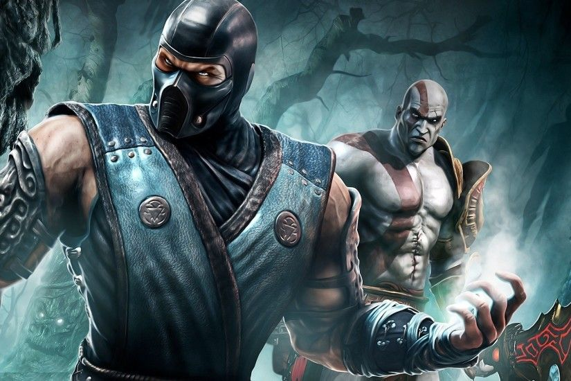 anime, Kratos, Sub Zero, Mortal Kombat, Sub Zero, Video Games Wallpapers HD  / Desktop and Mobile Backgrounds