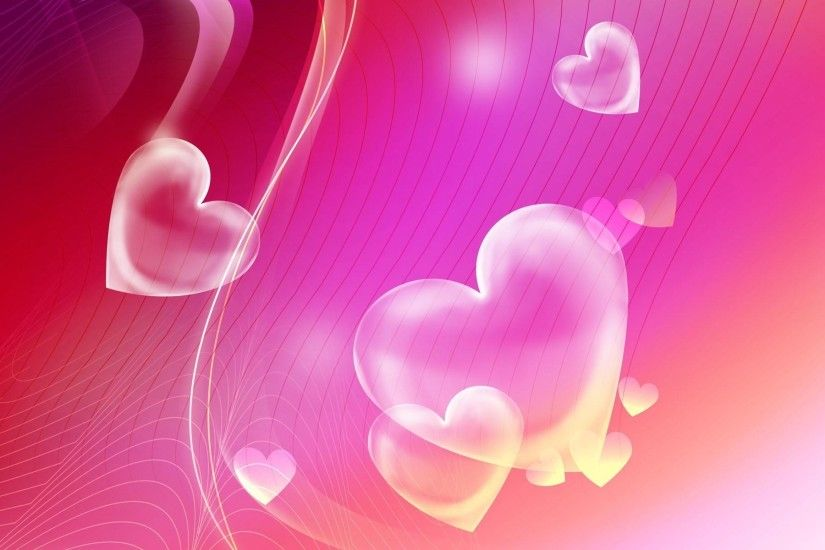 Wallpapers For > Pretty Pink Heart Backgrounds