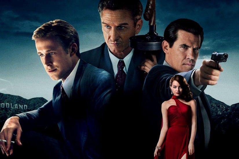 Movie - Gangster Squad Gangster Emma Stone Josh Brolin Ryan Gosling Sean  Penn Wallpaper