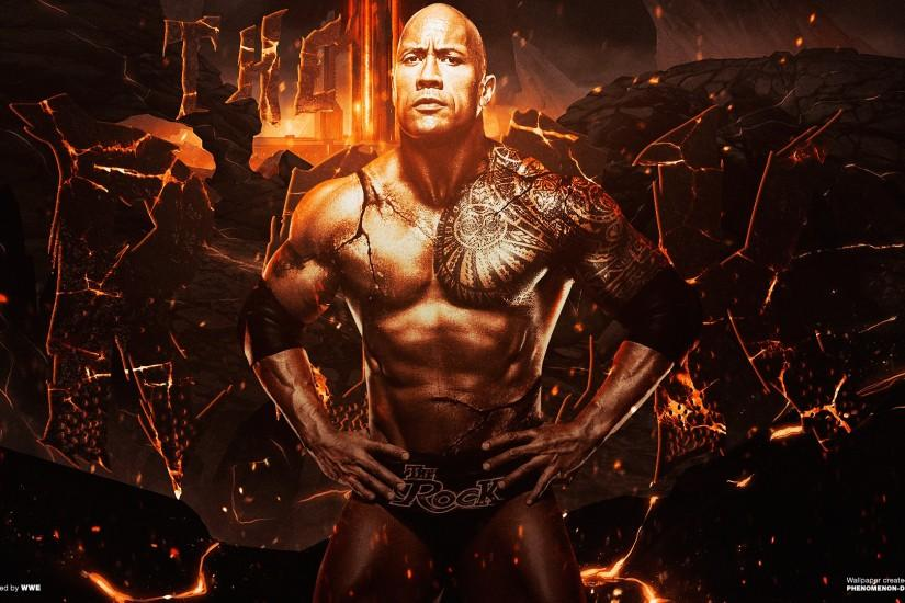 ... WWE The Rock Wallpaper v2 by Phenomenon-Des